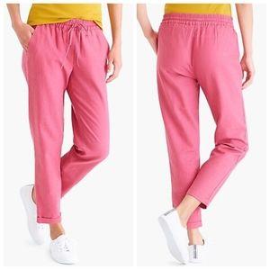 J.Crew Linen-cotton Drawstring pant size 6